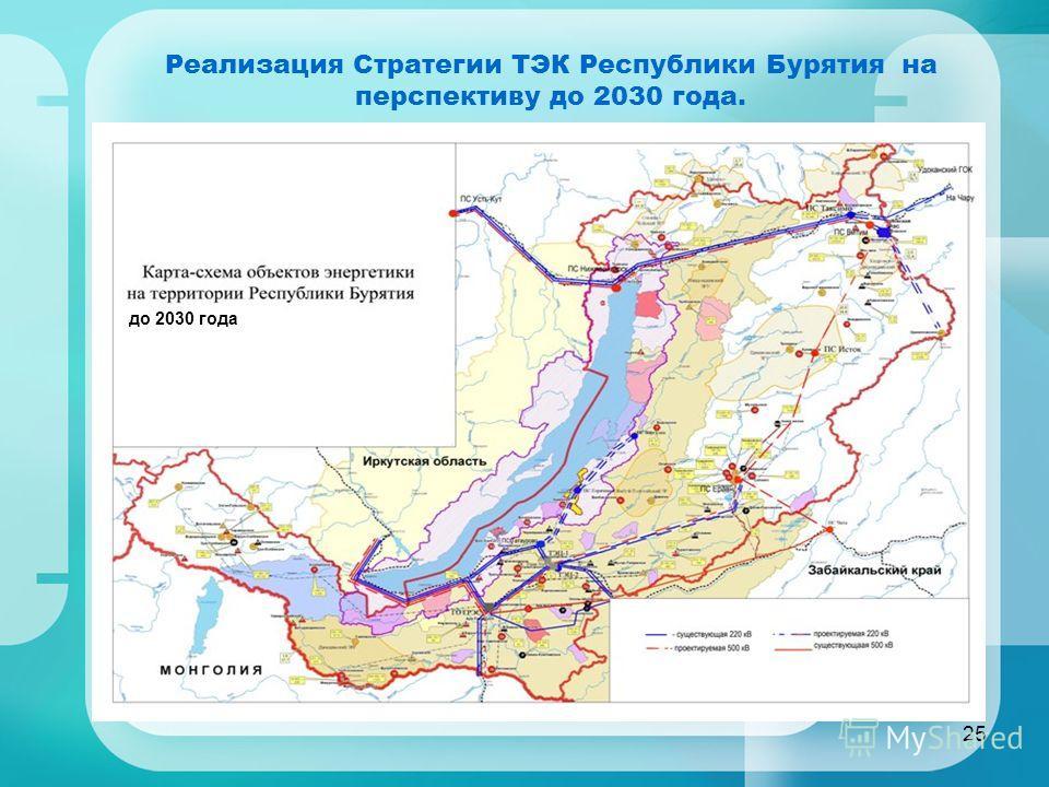 25 Реализация Стратегии ТЭК Республики Бурятия на перспективу до 2030 года. до 2030 года