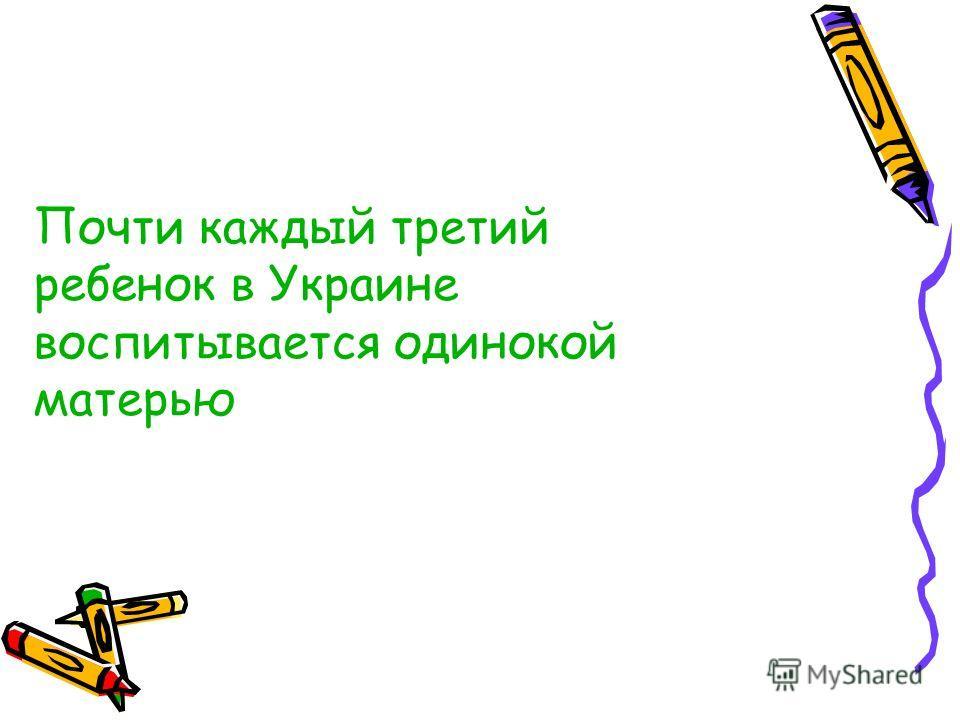 Почти каждый третий ребенок в Украине воспитывается одинокой матерью