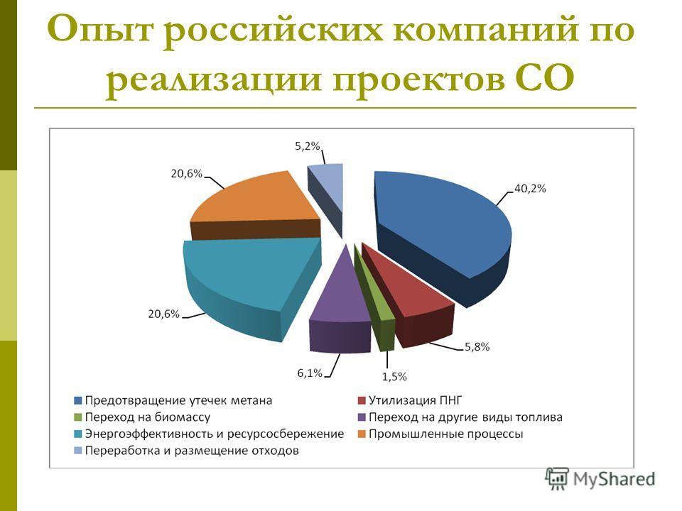 Опыт российских компаний по реализации проектов СО