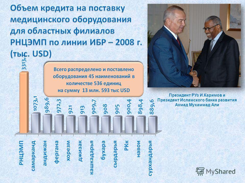 Президент РУз И.Каримов и Президент Исламского банка развития Ахмад Мухаммад Али