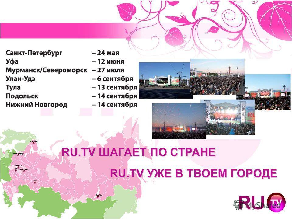 RU.TV ШАГАЕТ ПО СТРАНЕ RU.TV УЖЕ В ТВОЕМ ГОРОДЕ