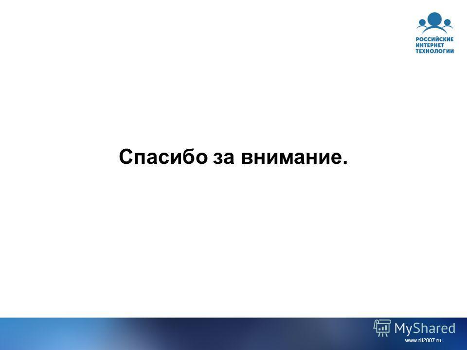 www.rit2007.ru Спасибо за внимание.