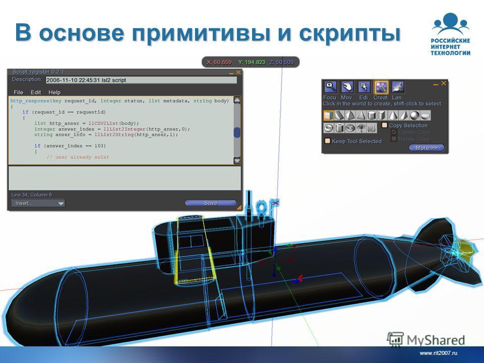 www.rit2007.ru В основе примитивы и скрипты