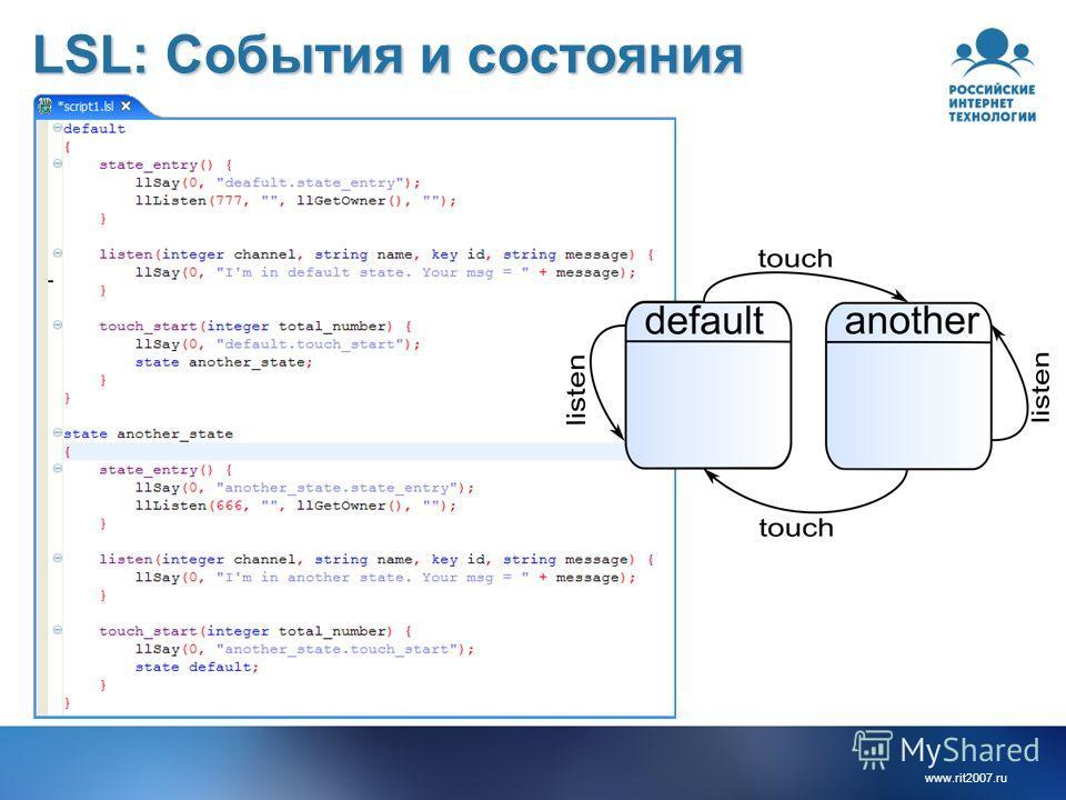 www.rit2007.ru LSL: События и состояния
