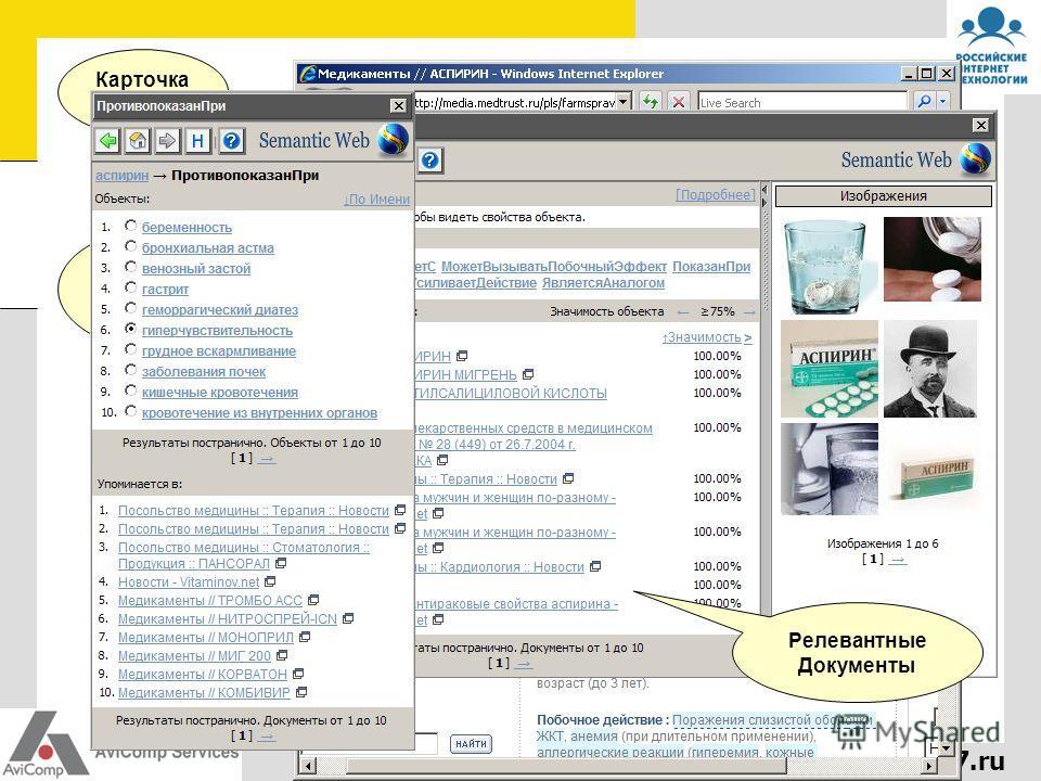 www.rit2007.ru Карточка объекта Связи объекта Релевантные Документы