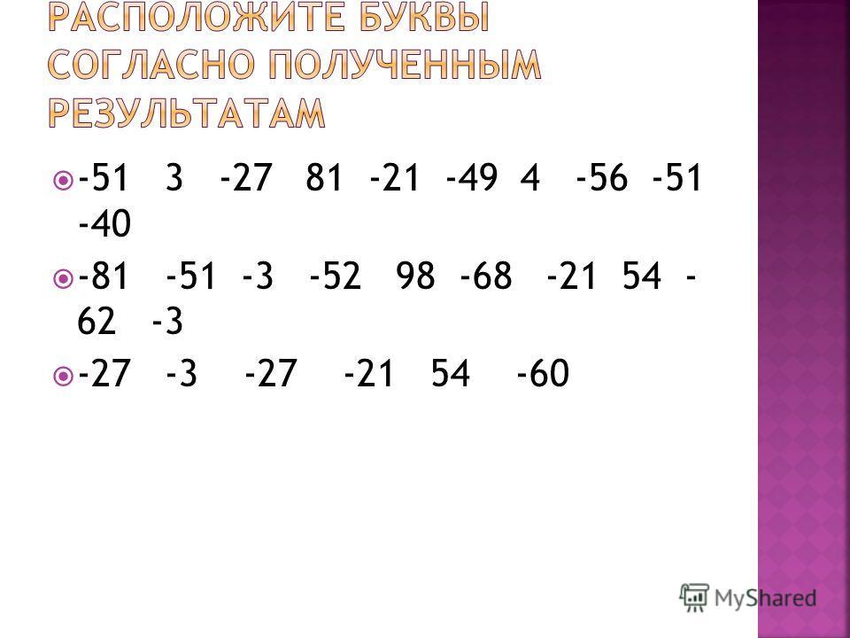 -51 3 -27 81 -21 -49 4 -56 -51 -40 -81 -51 -3 -52 98 -68 -21 54 - 62 -3 -27 -3 -27 -21 54 -60