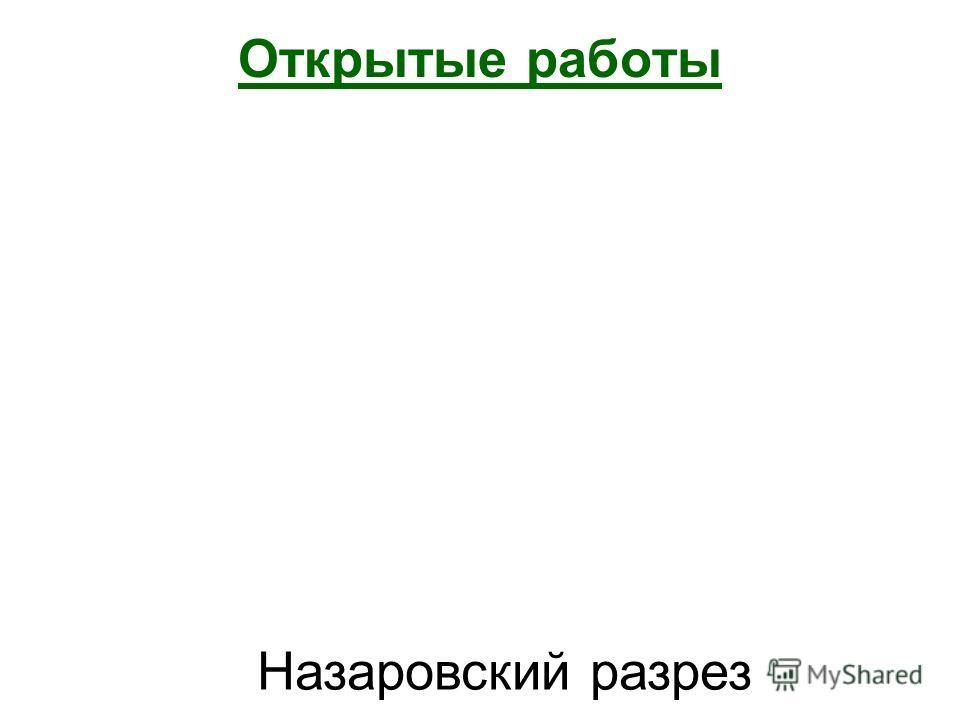 Открытые работы Назаровский разрез