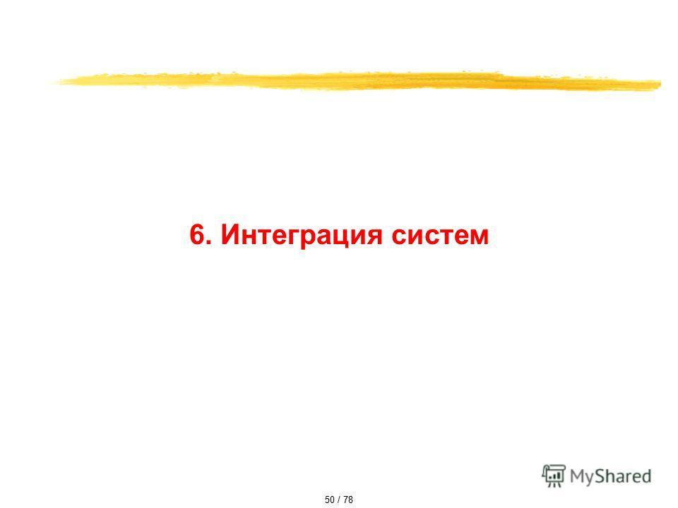 6. Интеграция систем 50 / 78