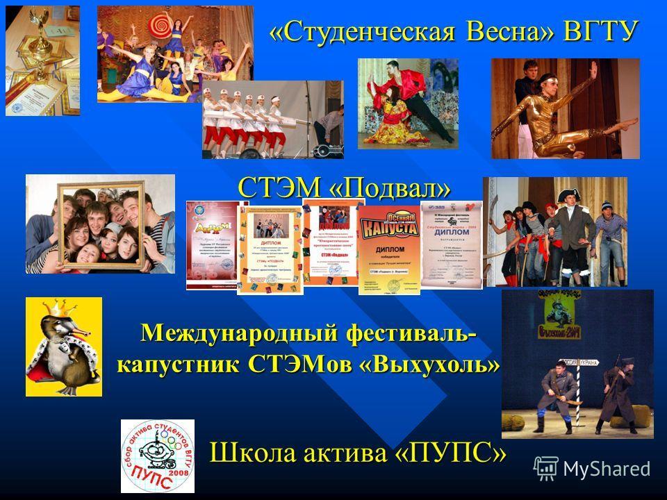 «Студенческая Весна» ВГТУ СТЭМ «Подвал» Международный фестиваль- капустник СТЭМов «Выхухоль»