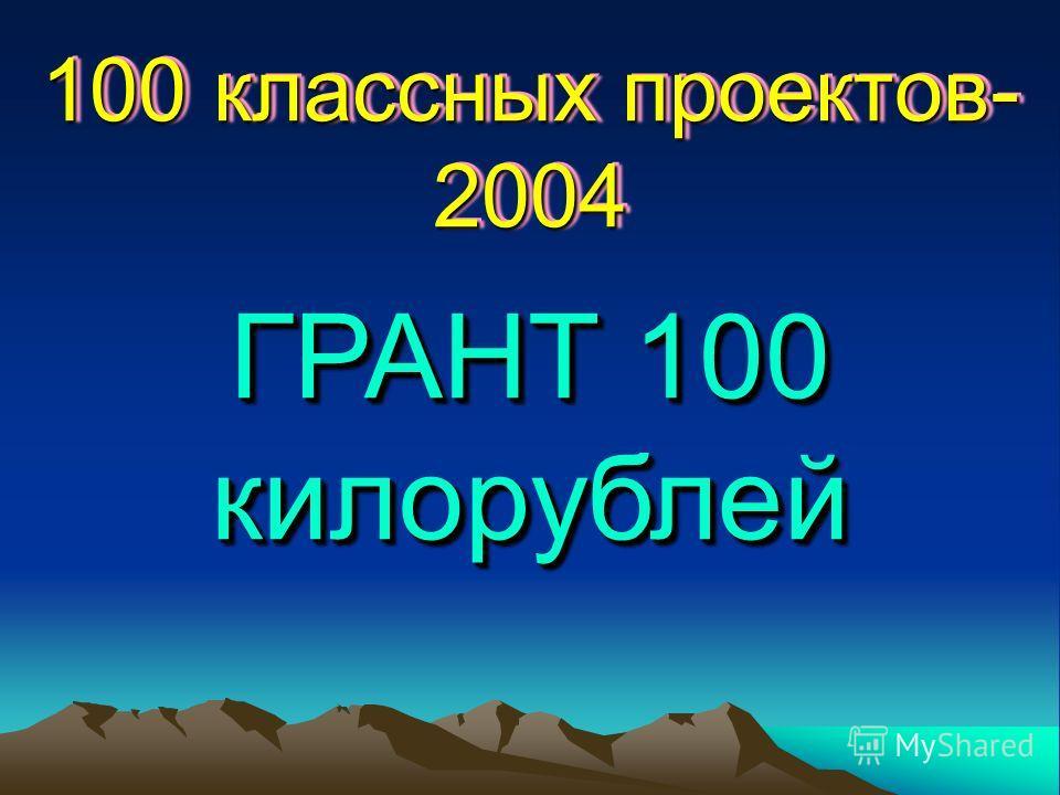 100 классных проектов- 2004 ГРАНТ 100 килорублей