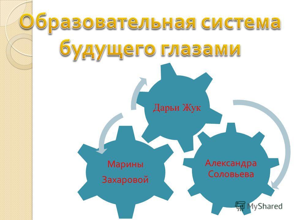 Александра Соловьева Марины Захаровой Дарьи Жук