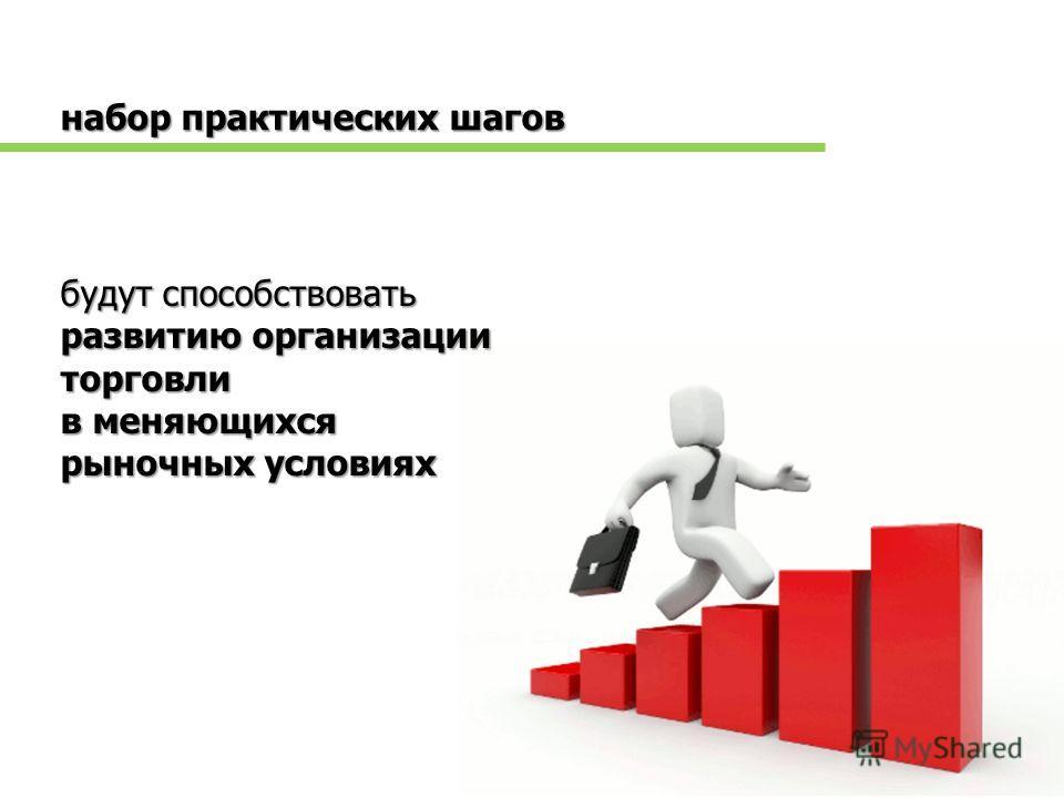 будут способствовать развитию организации торговли в меняющихся рыночных условиях набор практических шагов
