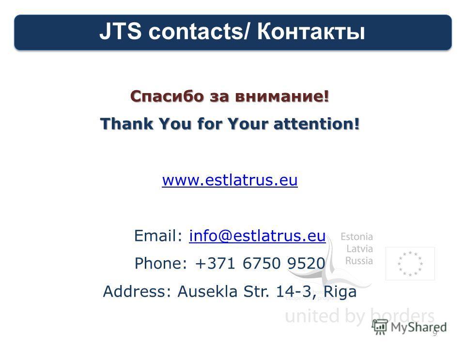 JTS contacts/ Контакты Спасибо за внимание! Thank You for Your attention! www.estlatrus.eu Email: info@estlatrus.euinfo@estlatrus.eu Phone: +371 6750 9520 Address: Ausekla Str. 14-3, Riga 9