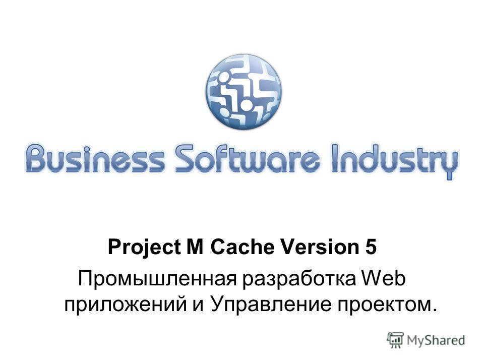 Project M Cache Version 5 Промышленная разработка Web приложений и Управление проектом.