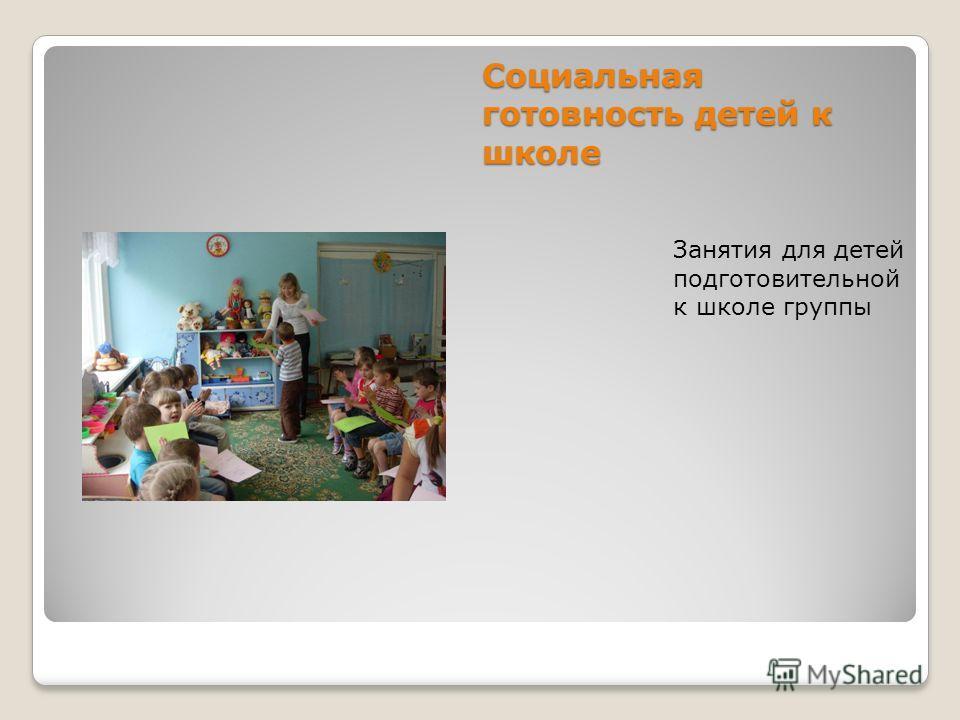 Социальная готовность детей к школе Занятия для детей подготовительной к школе группы