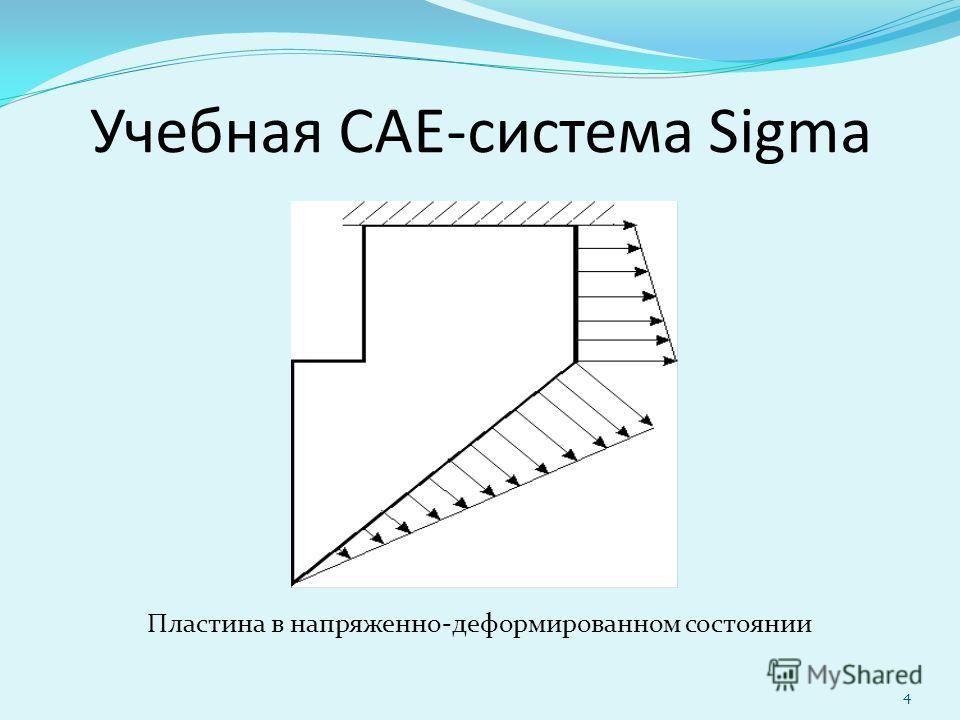 4 Учебная CAE-система Sigma Пластина в напряженно-деформированном состоянии