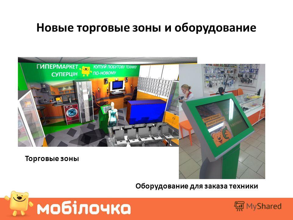 Новые торговые зоны и оборудование Оборудование для заказа техники Торговые зоны