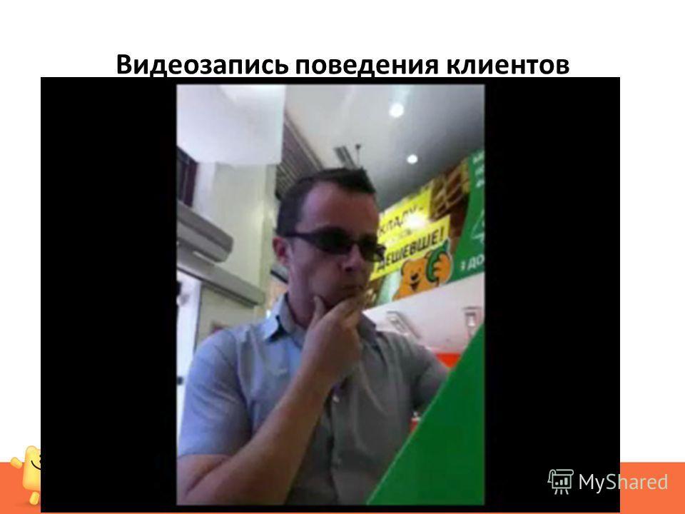 Видеозапись поведения клиентов