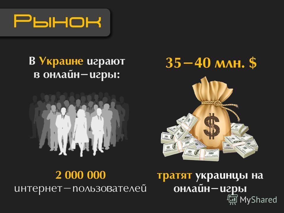В Украине играют в онлайн-игры: 2 000 000 интернет-пользователей тратят украинцы на онлайн-игры 35-40 млн. $