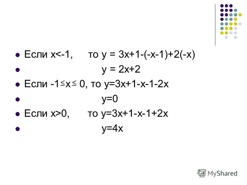 Если х0, то у=3х+1-х-1+2х у=4х