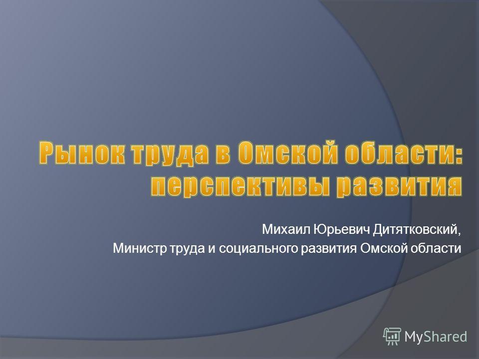 Михаил Юрьевич Дитятковский, Министр труда и социального развития Омской области
