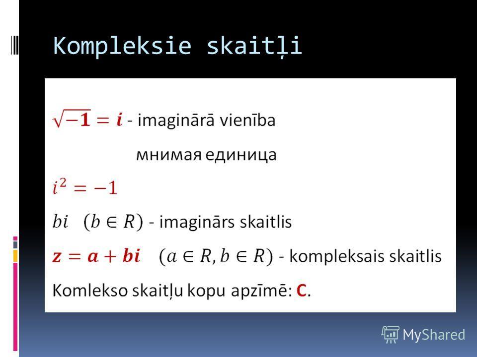 Kompleksie skaitļi