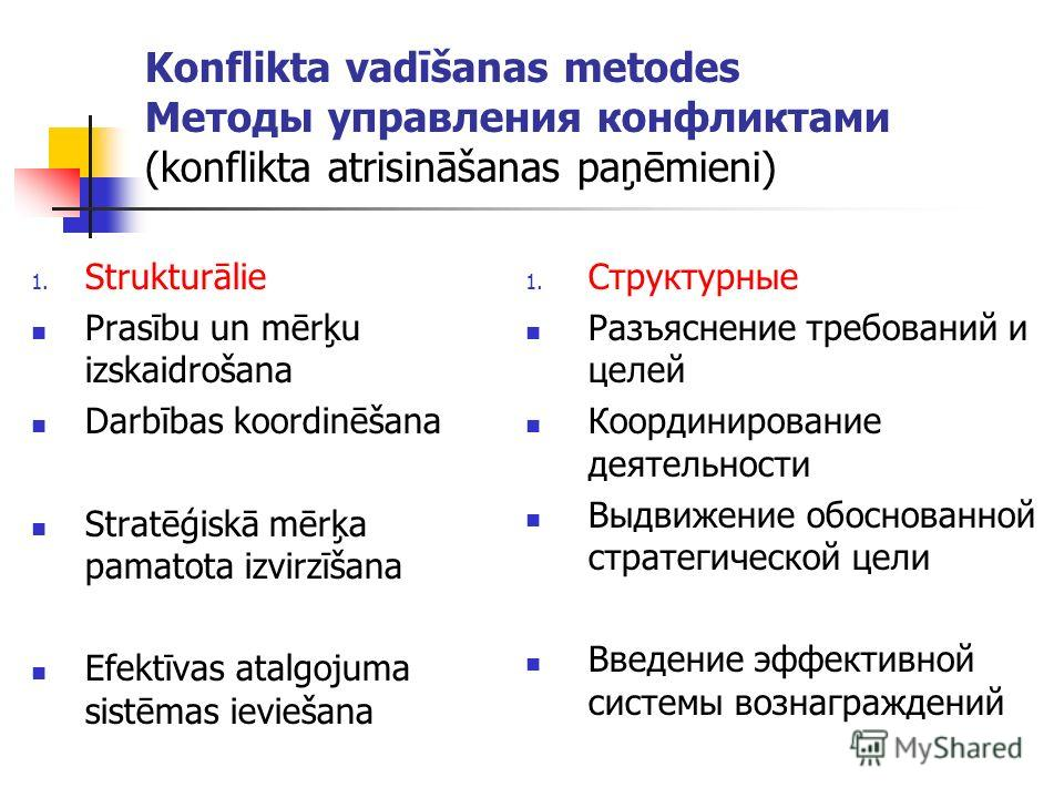 Системы управления конфликтами