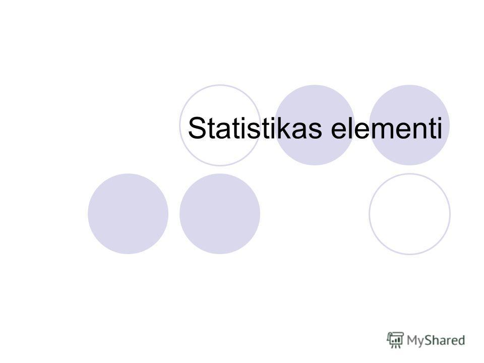 Statistikas elementi