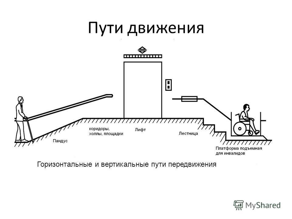 Пути движения Горизонтальные и вертикальные пути передвижения