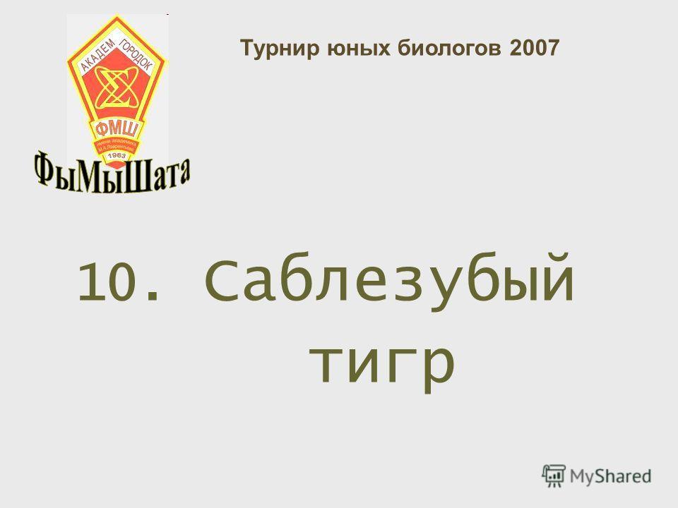 10. Саблезубый тигр Турнир юных биологов 2007