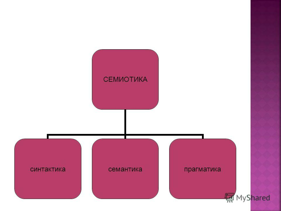 СЕМИОТИКА синтактикасемантикапрагматика
