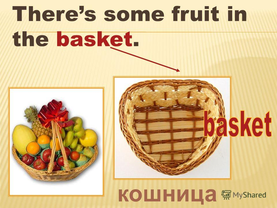 Theres some fruit in the basket. кошница