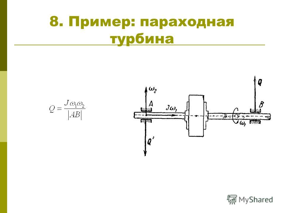 8. Пример: параходная турбина