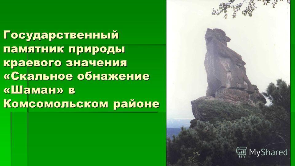 Государственный памятник природы краевого значения «Скальное обнажение «Шаман» в Комсомольском районе
