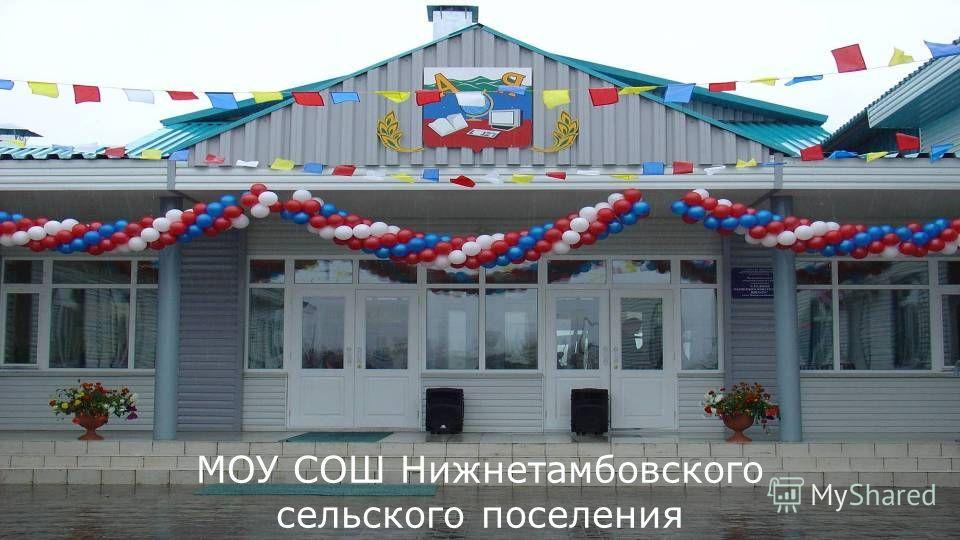 50 МОУ СОШ Нижнетамбовского сельского поселения