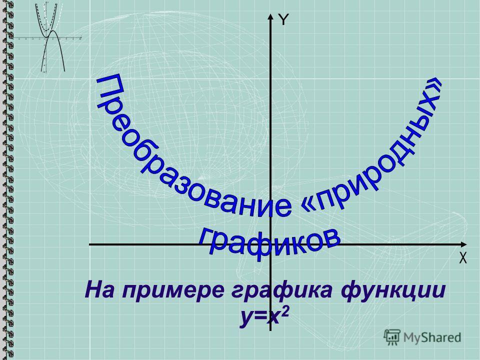 На примере графика функции у=х 2