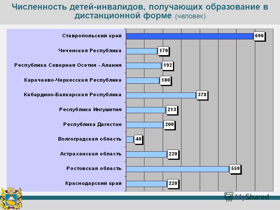 Численность детей-инвалидов, получающих образование в дистанционной форме (человек)