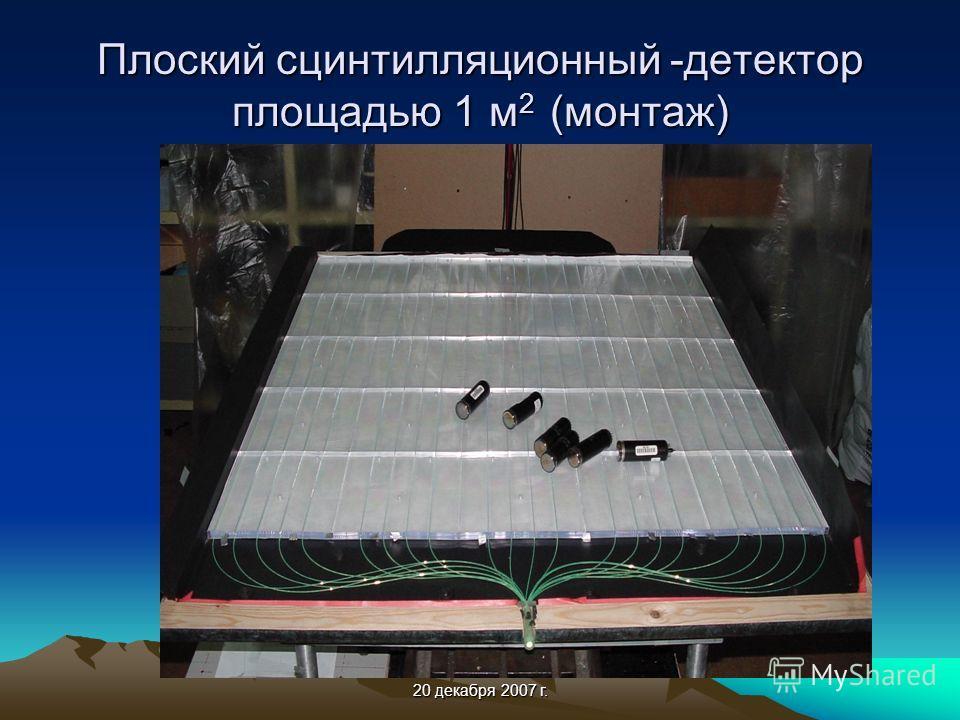 20 декабря 2007 г. Плоский сцинтилляционный -детектор площадью 1 м 2 (монтаж)