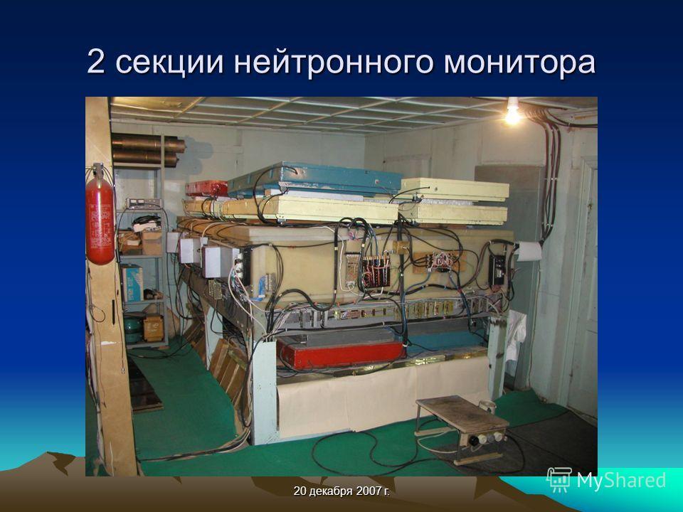 20 декабря 2007 г. 2 секции нейтронного монитора