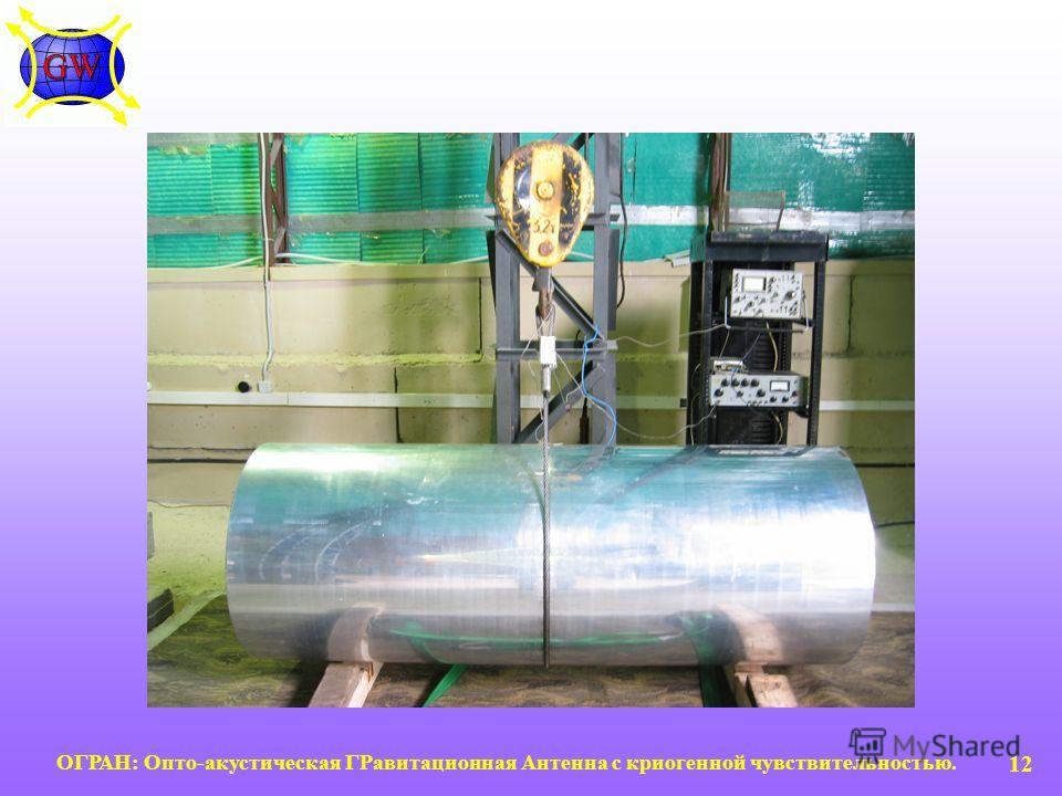 ОГРАН: Опто-акустическая ГРавитационная Антенна с криогенной чувствительностью. 12