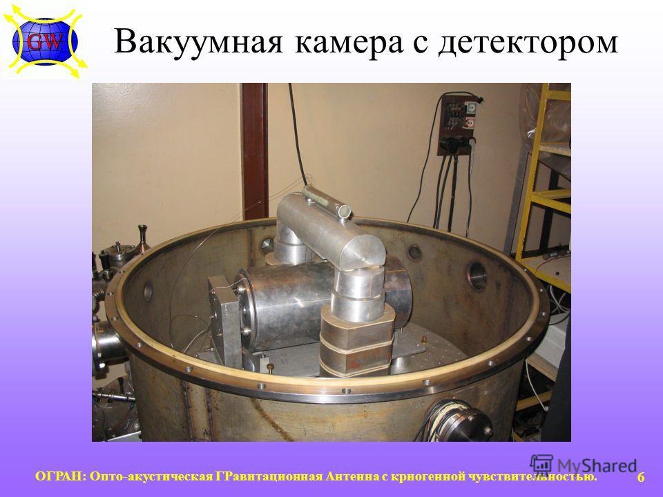 ОГРАН: Опто-акустическая ГРавитационная Антенна с криогенной чувствительностью. 6 Вакуумная камера с детектором