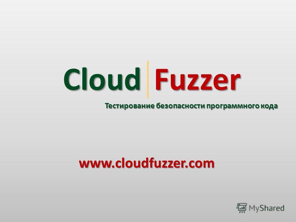 Тестирование безопасности программного кода Cloud Fuzzer Fuzzerwww.cloudfuzzer.com