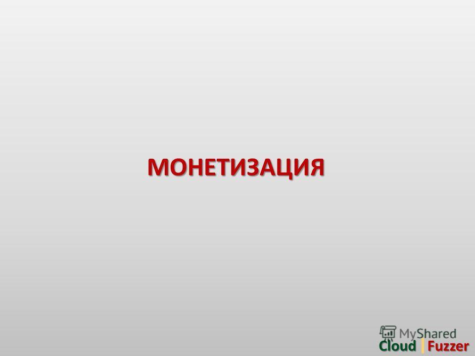 МОНЕТИЗАЦИЯCloudFuzzer