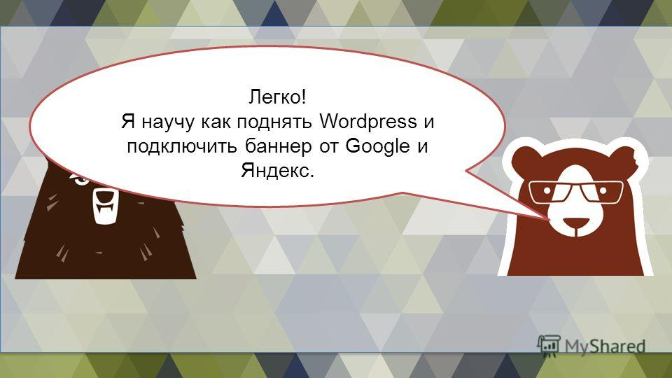 Легко! Я научу как поднять Wordpress и подключить баннер от Google и Яндекс.