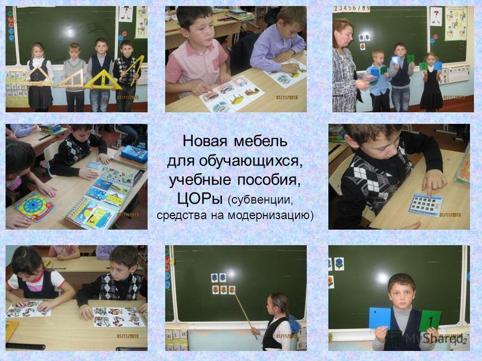 Новая мебель для обучающихся, учебные пособия, ЦОРы (субвенции, средства на модернизацию)