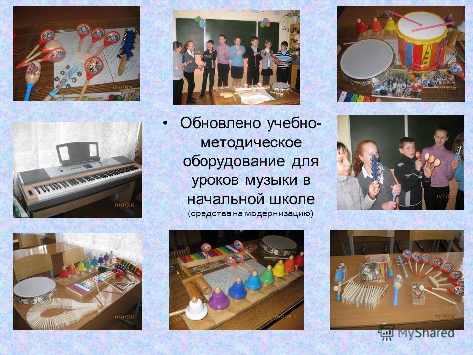 Обновлено учебно- методическое оборудование для уроков музыки в начальной школе (средства на модернизацию)
