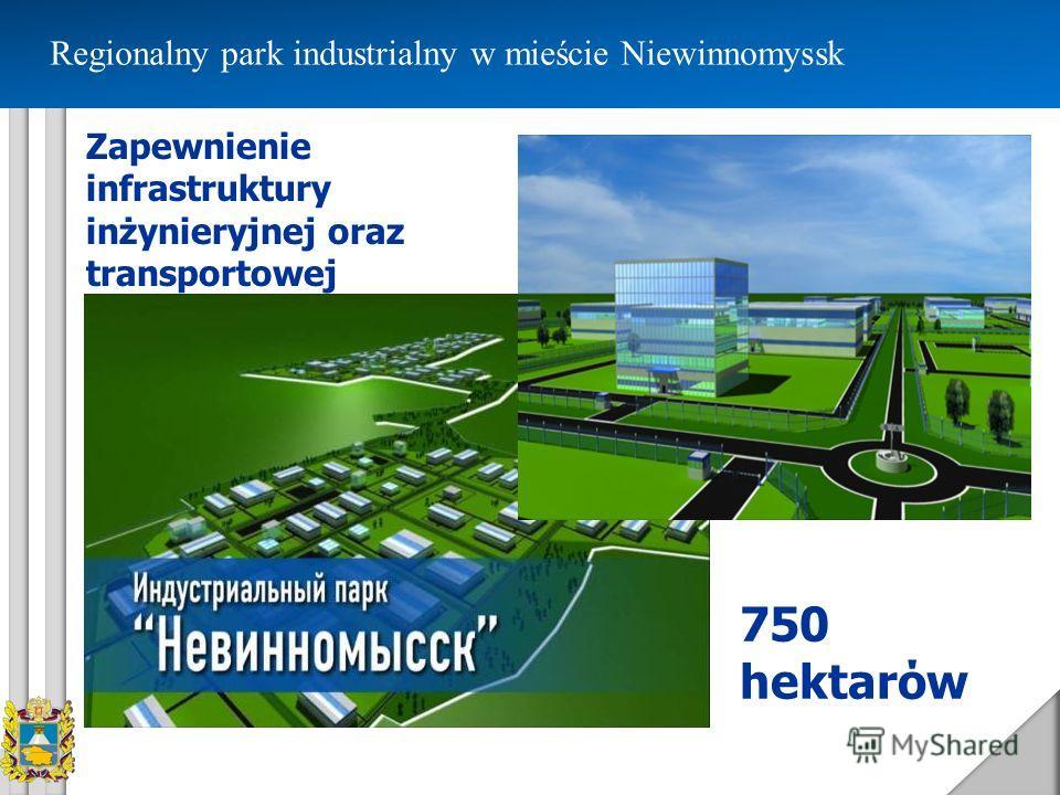 Regionalny park industrialny w mieście Niewinnomyssk 750 hektarόw Zapewnienie infrastruktury inżynieryjnej oraz transportowej