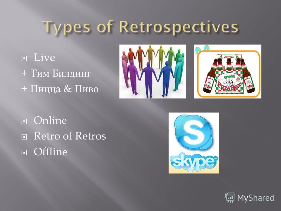 Live + Тим Билдинг + Пицца & Пиво Online Retro of Retros Offline