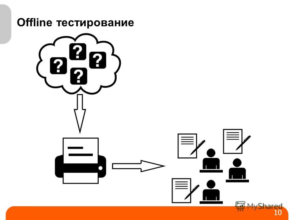 Offline тестирование 10