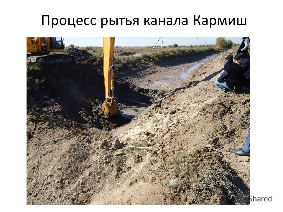 Процесс рытья канала Кармиш